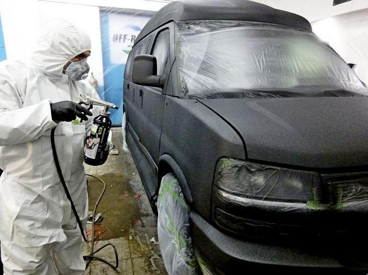 фото покраска авто раптор в автосервисе