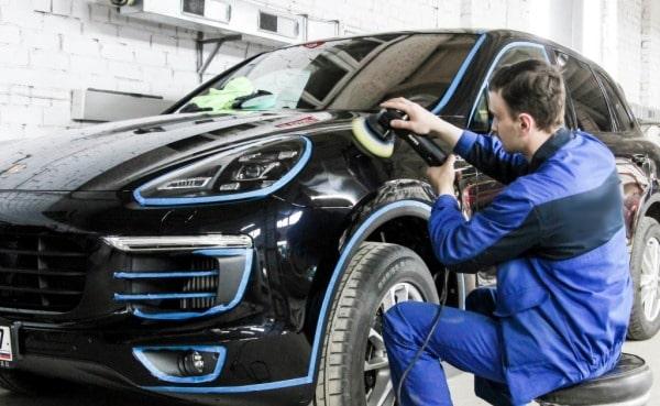 фото процесс полировки авто