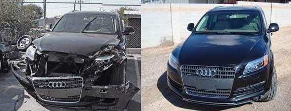 Фото полного кузовного ремонта передней части авто до и после