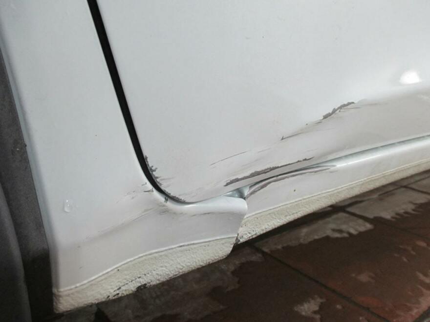фото порога машины до ремонта