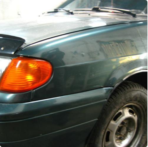 Фото ВАЗ 2114 отремонтировали вмятину без покраски
