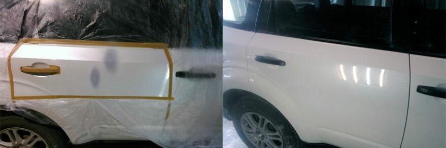 Фото пример до и после локальной покраски авто