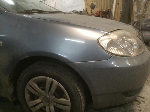 Toyota фото ремонт вмятины без покраски