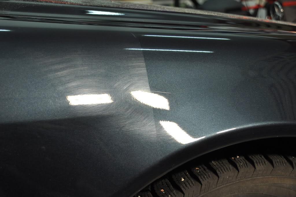 Фото до и после устранения царапин на кузове авто