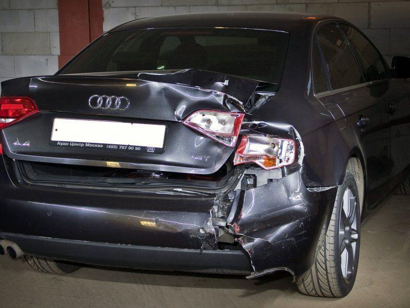 Фото пример повреждений Ауди