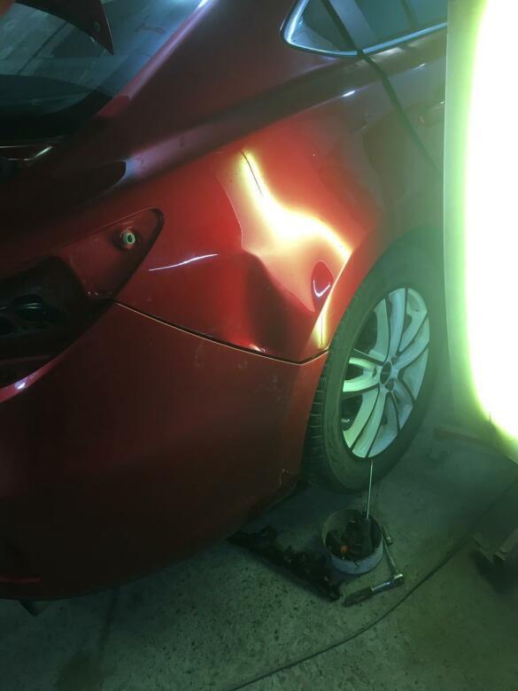 Фото вмятины на заднем крыле Mazda 6